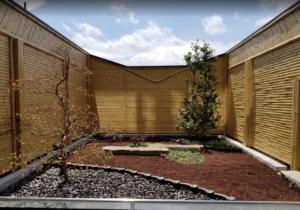 露天風呂の坪庭