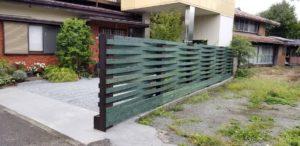 枕木施工のフェンス
