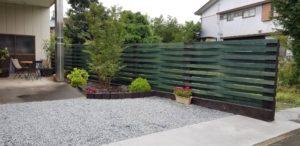 枕木施工のフェンス2