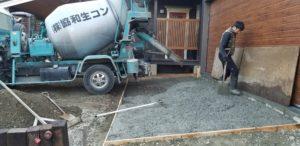 ガレージ土間づくり2