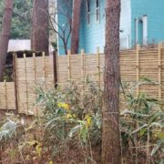 竹によるフェンス