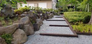 別荘庭園施工事例4