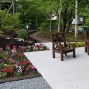 別荘庭園施工事例5