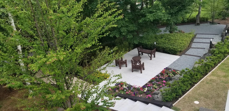 別荘庭園施工事例6