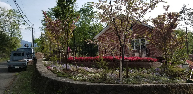別荘植樹施工事例