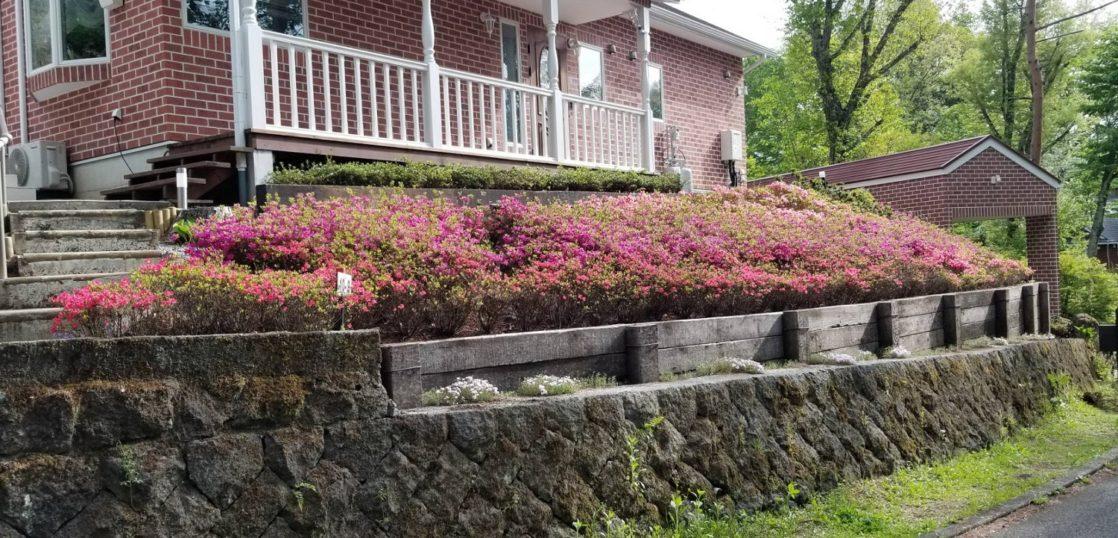 別荘花壇施工事例
